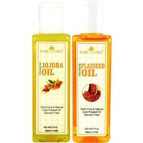 Park Daniel Premium Flaxseed oil and Jojoba oil combo of 2 bottles of 100 ml (200ml) Hair Oil(200 ml)