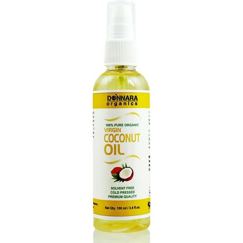 Donnara Organics Premium Virgin Coconut oil- 100% Pure & Natural(100 ml) Hair Oil(100 ml)