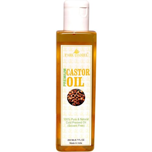 Park Daniel Cold pressed Castor Oil -100 % Pure and Natural(200 ml) Hair Oil(200 ml)