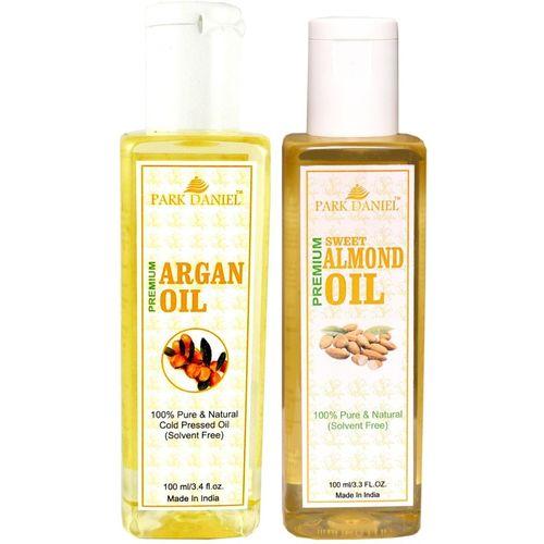 Park Daniel Premium Argan oil and Almond oil combo of 2 bottles of 100 ml (200ml) Hair Oil(200 ml)