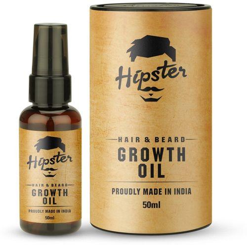 Hipster Hair & Beard Growth Oil 50ml Hair Oil(50 ml)