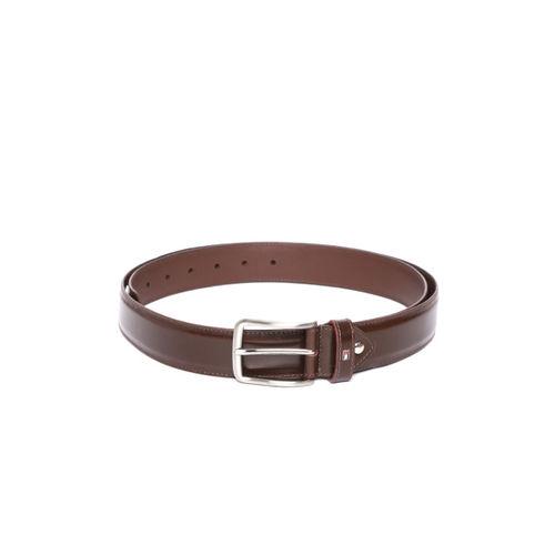 Tommy Hilfiger Men Brown Solid Leather Belt