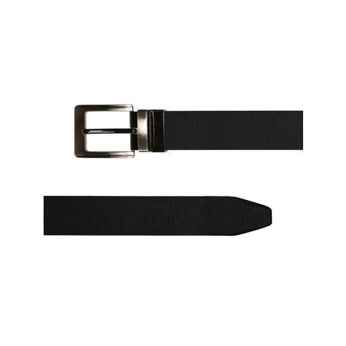 SCHARF Men Black Solid Leather Belt