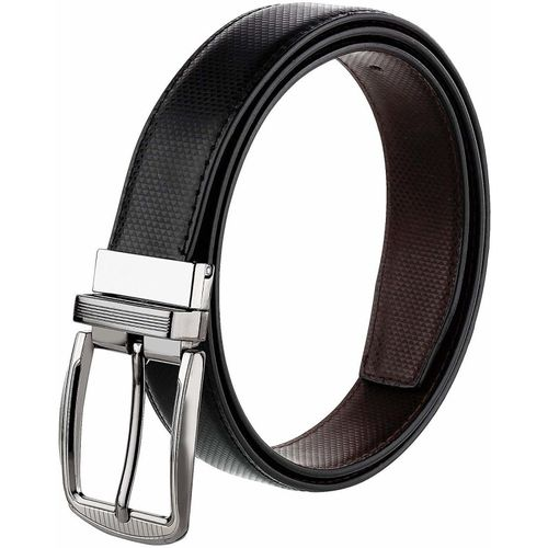COOVS Men Casual, Formal Black Artificial Leather Reversible Belt