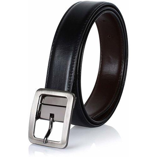COOVS Men Formal, Casual Black Artificial Leather Reversible Belt