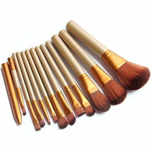 ALEMKIP Makeup Brushes professional Cosmetic Makeup Brush Set (Gold 12pcs/lot)
