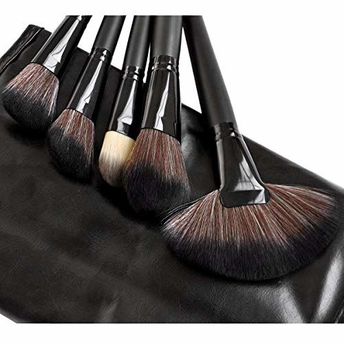 URBANMAC URBAN MAC Brush Book Makeup Brush Collection, BLACK(Combo Of 24)