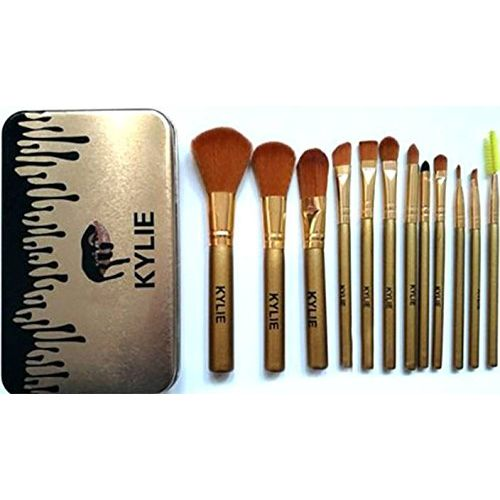 KYLIE Professional 12 Pcs Full Makeup Brush Face and Eye Cosmetic Set