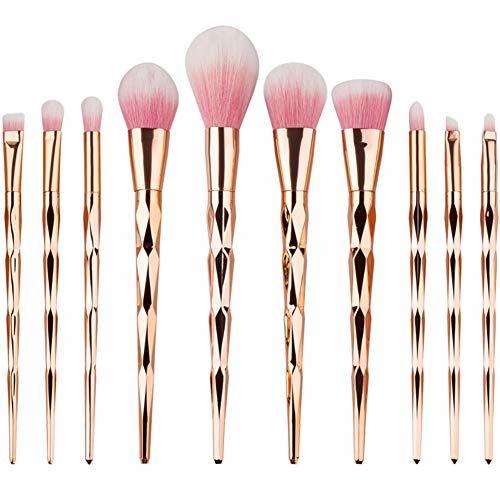 Start Makers ® Makeup Brushes 10 PCS Start Makers Diamond Handle Makeup Brush Set with Big Fish Tail for Foundation Eyeshadow Face Brush Eye Makeup kit