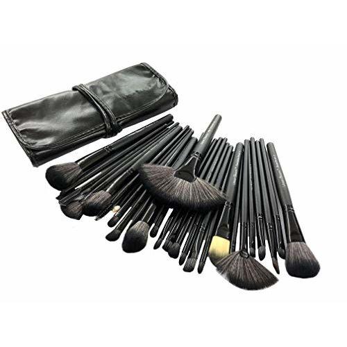 Urban Beauty 30 Piece Makeup brush Set With Storage Pouch (Black)