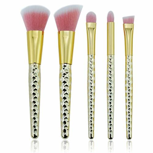 Start Makers ® Makeup Brush Professional Brushes 5 PCS Beehive Handle Beauty Sponge Blender Cosmetic Sponges Pink Egg-shaped Makeup Brush Cleaner Travel Set