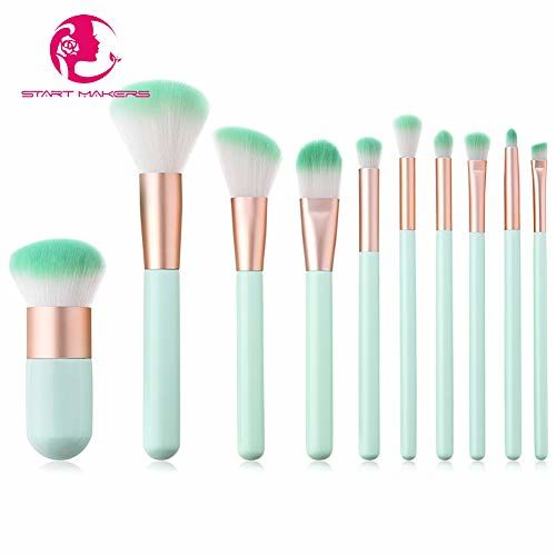 Start Makers ® Makeup Brush 10 PCS Start Makers Explosion Models Chubby Pier Foundation Brush BB Cream Concealer Fashion Powder Face Brushes Set Eye Shadow