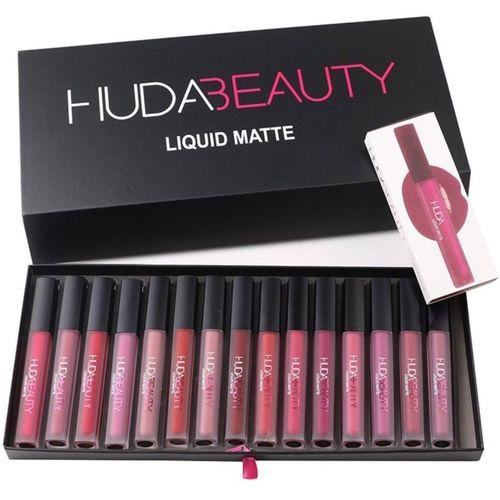 Huda Beauty Matte Liquid Lipstick(Set Of-16)(Multicolour)
