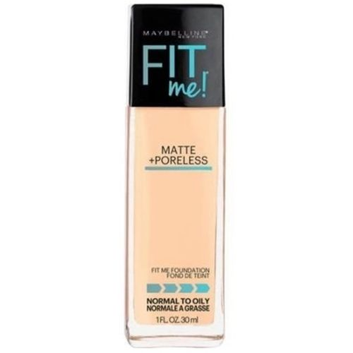 Maybelline New York Fit Me! Matte With Poreless Foundation, 128 Warm Skin Color Foundation(128 Warm Skin Color)