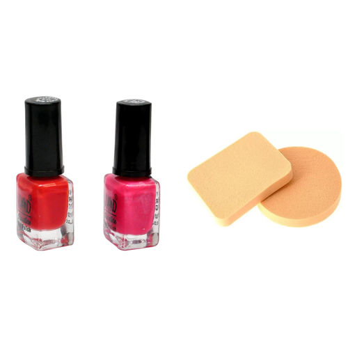 Others Viano Nail Polish Best Quality 6 ML Each Cosmetic Foundation Powder Puff Sponge - pack of 3