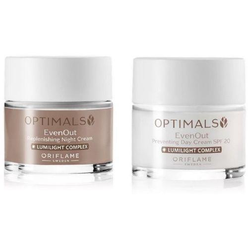 Oriflame Sweden OPTIMALS Even Out Day Cream & Night Cream(100 ml)