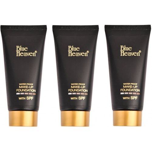 Blue Heaven Tube Foundation 50 ML (Natural) - Combo of 3 Foundation(NATURAL)