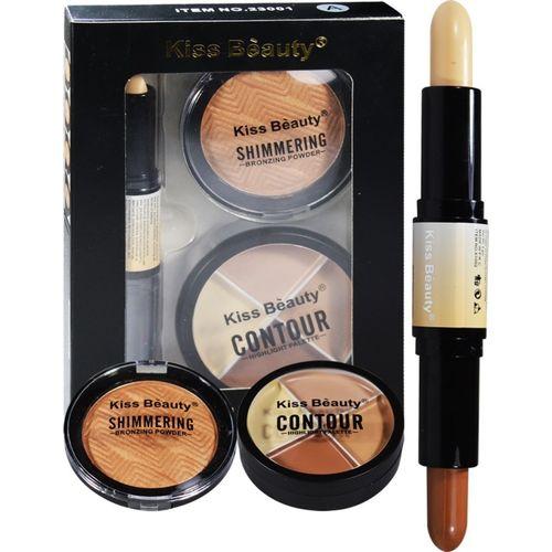 Kiss Beauty Face 3in1 Contour Kit 23001A Concealer(Multicolor)