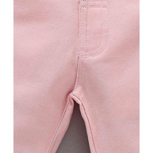 ToffyHouse Full Length Trouser With Adjustable Elastic Waist - Light Peach
