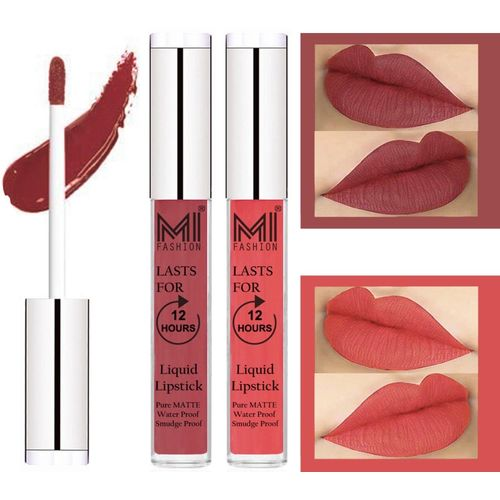 MI FASHION Matte Lips Kiss Proof Vegan Liquid Lipstick