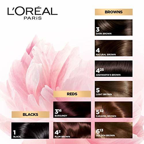 L'Oreal Paris Excellence Creme Hair Color, 3 Dark Brown/Natural Darkest Brown, 72ml+100g