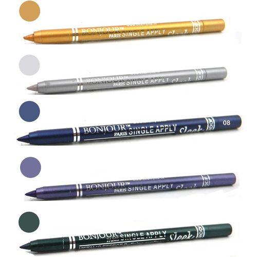 Bonjour Paris Long lasting shocking color kajal(golden, silver, navy blue, purple, green)