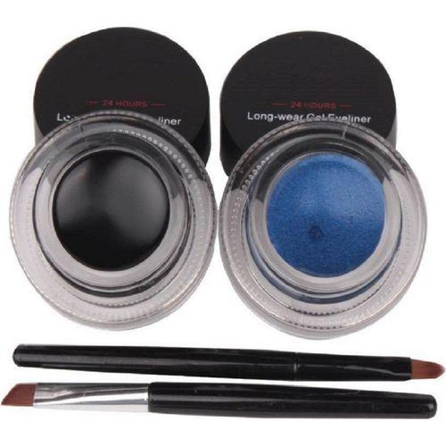 hich 2 in 1 Black & Blue Water Proof & Smudge Proof 24hrs Gel Eyeliner 3+3= 6g 6 g(black, blue)