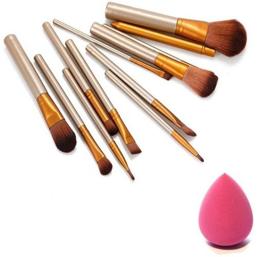 Anytime shops makeup brushs kit with sponge puff(Set of 12)