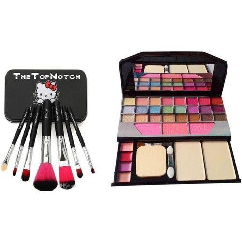 TheTopNotch Makeup Brush Set 7 Peice and TYA Makeup Kit 6155(Set of 2)