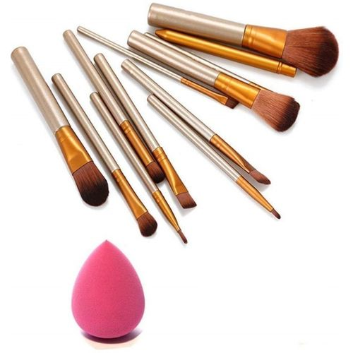 SKINPLUS Professional Cosmetics Makeup Brush In Durable Box With Sponge Puff(Set of 13)