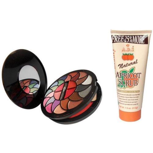 ADS ADS Color Series 22 Eyeshadow/ 2 Blusher/ 2 Powder Cake/ 4 Lipcolour / Natural Scrub(Set of 2)