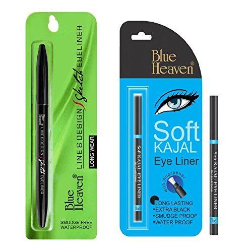 Blue Heaven Combo of (Line Design Sketch Eyeliner) (Soft kajal)