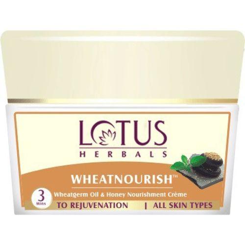 Lotus Herbals WHEATNOURISH Wheatgerm Oil & Honey Massage Creme(50 g)