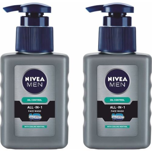 Nivea All In One Oil Contorl Wash Face Pack Of 2 Face Wash(300 ml)