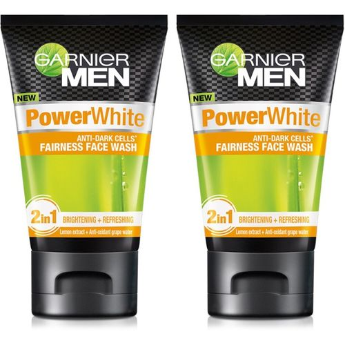 Garnier Men Power White Anti-Dark Cells Face Wash (Pack of 2) Face Wash(200 g)