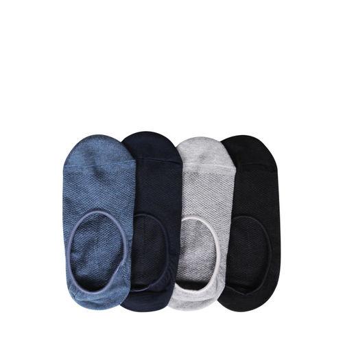 Bonjour Men Pack of 4 Multicoloured Patterned Shoe Liners