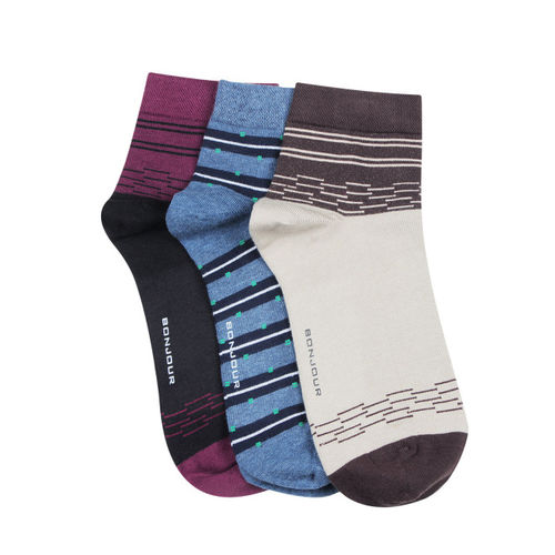 Bonjour Men Set of 3 Assorted Socks