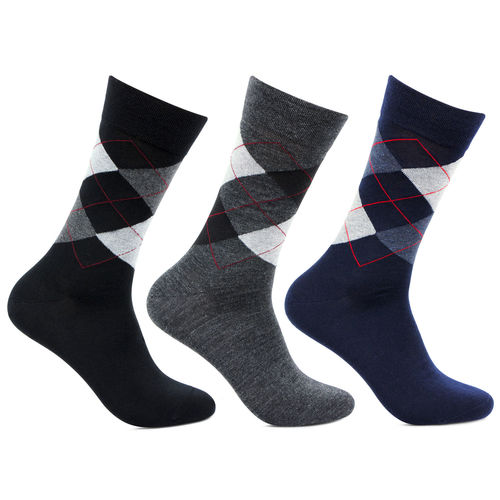 Bonjour Mens Designer Formal Pack of 3 Pairs Woolen Socks