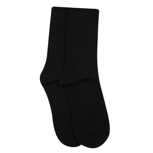 Bonjour Men's Woolen Rib Design Dark colour Socks in 4 colours-Black