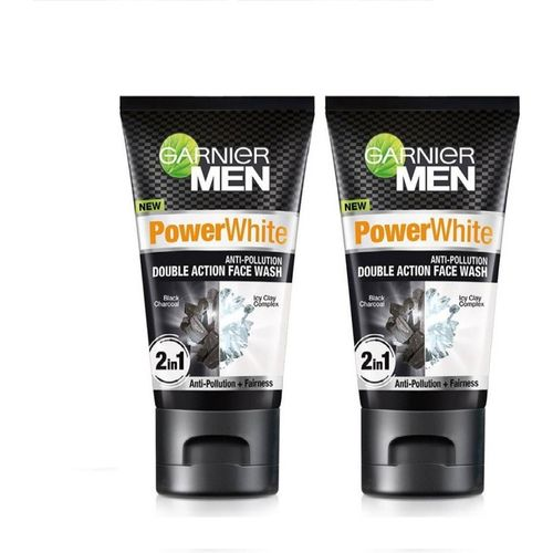 Garnier Men Power White Anti Pollution Face Wash 100 ml pack of 2 Face Wash(200 g)