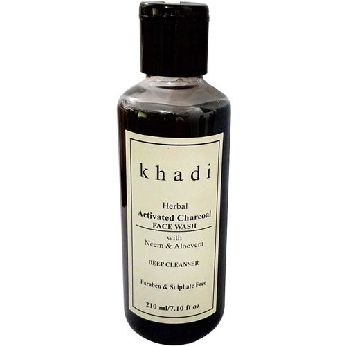 Khadi Herbal Activated Charcoal ( Paraben & Sulphate Free) Face Wash(210 g)