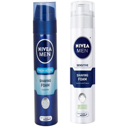 Nivea MEN FRESH ACTIVE SHAVING FOAM 200 ML+MEN SENSITIVE SHAVING FOAM 200 ML(200 ml)