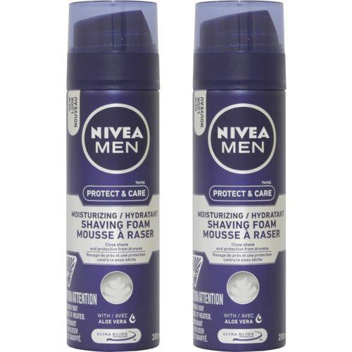 Nivea Men Protect & care Moisturizing Hydratant Shaving Foam with Aloe Vera Combo(400 ml)