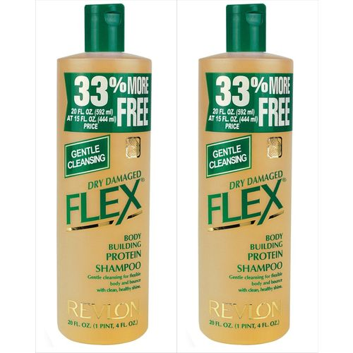 Revlon Flex Body Building Protein Shampoo Dry Damaged - Pack of 2(1184 ml)