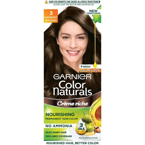 Garnier Color Naturals, Shade 3 Hair Color(Darkest Brown)