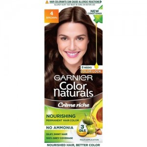 Garnier Color Naturals, Shade 4 Hair Color(Brown)