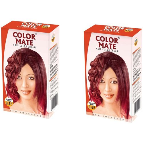 Color Mate Cream Hair Color(Copper Red)