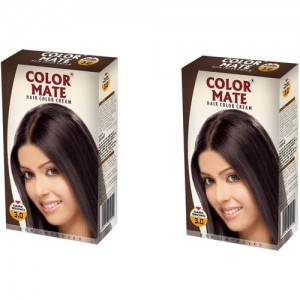 Color Mate Cream Hair Color(Dark Brown)