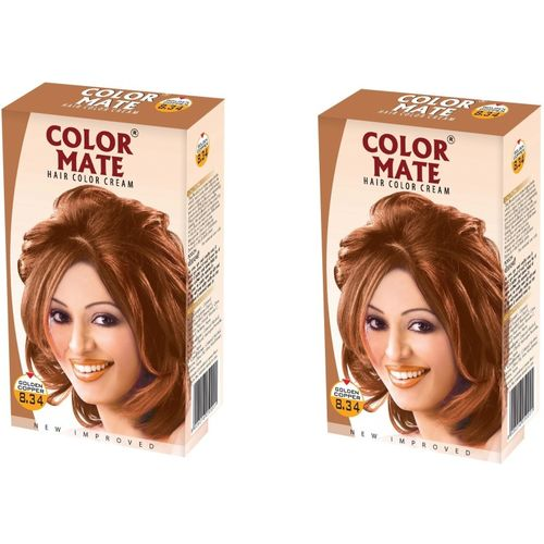 Color Mate Cream Hair Color(Golden Copper)