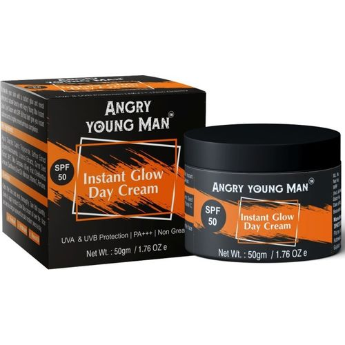 Angry Young Man Instant Glow Day Cream - SPF 50 PA+++(50 g)